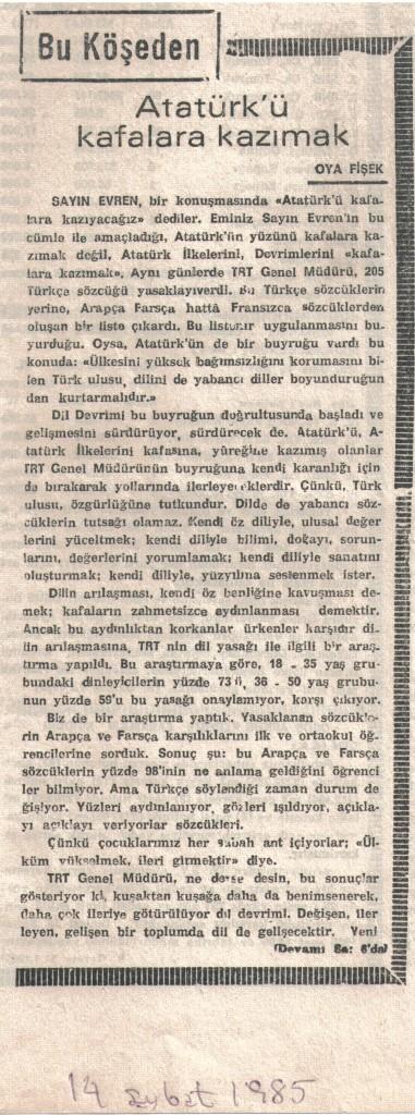 Atatürk'ü Kafalara Kazımak - 1