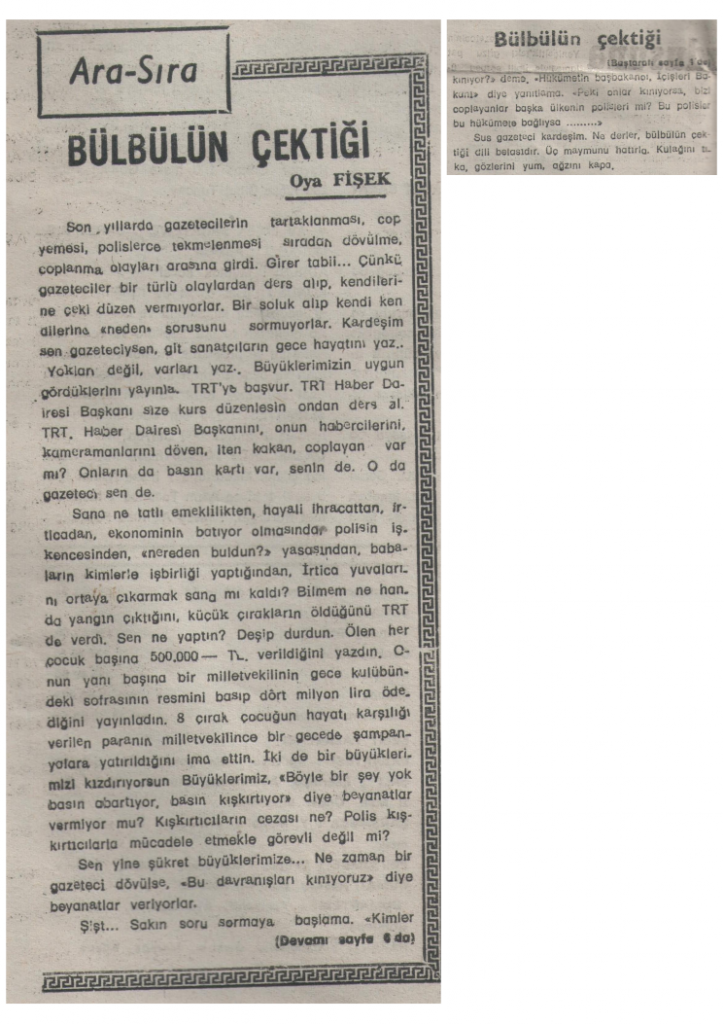 Bülbülün Çektiği - 12 Şubat 1990