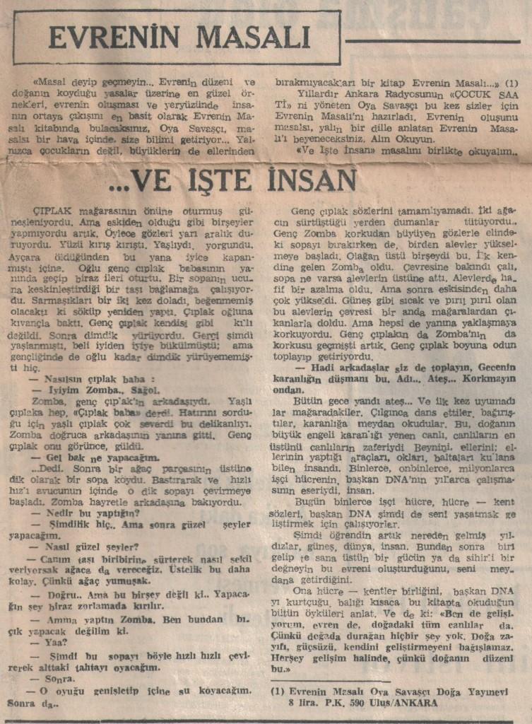Evrenin Masalı - 24 Kasım 1972