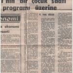 27 Ocak 1971 - TRT'nin bir çocuk saati programı üzerine